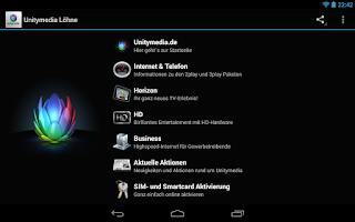 Screenshot of Unitymedia Löhne
