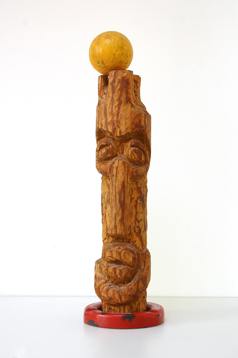 king (1982-2001), wood, iron, plastic - dreamer, thinker, chesspiece