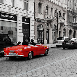 Prague. December. by Vlad Sidorak - City,  Street & Park  Street Scenes ( street, street photography, selective color, pwc )