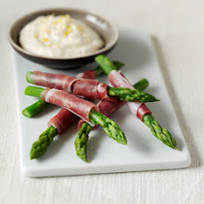 Asparagus Wraps With Lemon Mayo