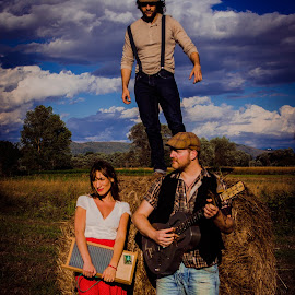 The Hay Bale Stompers by Maicol Venturini - People Musicians & Entertainers ( musicians, hay, people )