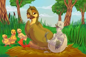 Screenshot of Гадкий Утенок - книга детям