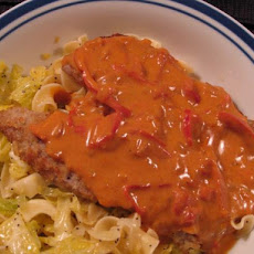 Veal Cutlets in Cream Sauce (Lite-Bleu)