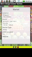 Screenshot of Metro Chicago Farmers Markets