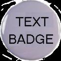 Text Badge icon