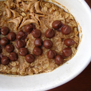 Baked Chocolate Almond Butter Oatmeal!