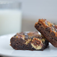Brownie Bottom Pecan Pie Bars