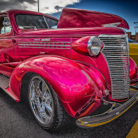 Purple Six Pack by Ron Meyers - Transportation Automobiles