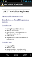 Screenshot of Unix Tutorial for Beginners