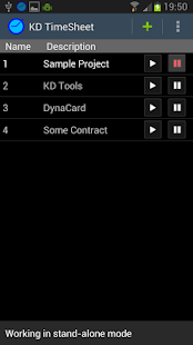 KDTools Timesheet - screenshot