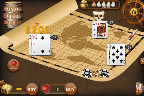 Blackjack Treasure - screenshot