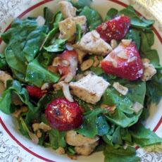 Chicken and Strawberry Spinach Salad