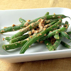 Green Beans Tossed with Walnut-Miso Sauce