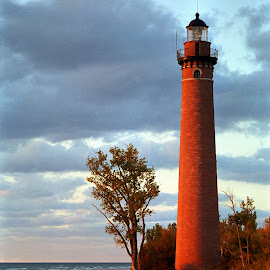 Little Sable Point Light by Norm Dunlap - Buildings & Architecture Other Exteriors