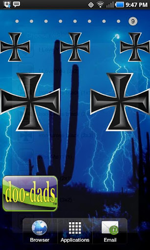 Iron Cross black doo-dad