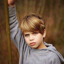 Boy in the Woods by Lucia STA - Babies & Children Child Portraits