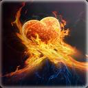 Burning Love background mobile app icon