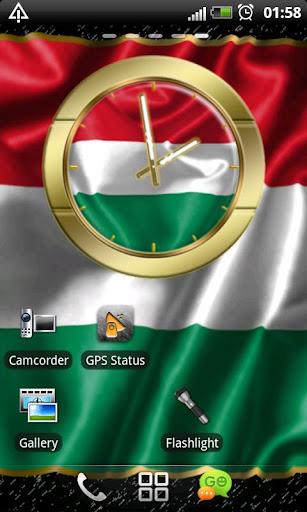 Hungary flag clocks