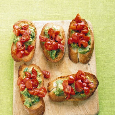 Tomato-Avocado Toasts