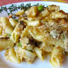 Seafood  in Baked Penne and Cheese