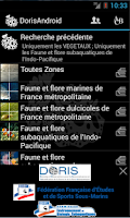 Screenshot of DORIS Android