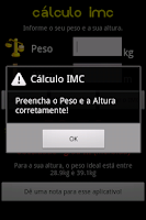 Screenshot of Cálculo IMC