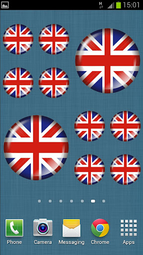 British Flag Badge Widget