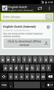 English-Dutch Dictionary - screenshot
