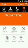 Screenshot of llevoip