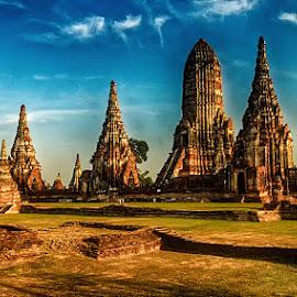 Remainings of Ayuthaya by Radu Eftimie - City,  Street & Park  Historic Districts ( ayuthaya, thailand )