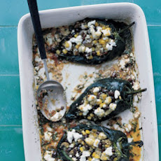 Stuffed Poblano Peppers in a Chipotle Sauce