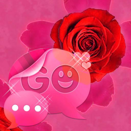 GO 短信主題粉紅色的玫瑰可愛 GO SMS Theme LOGO-APP點子