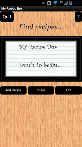 My Recipe Box