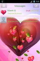 Screenshot of GO SMS Pro Valentine Heart