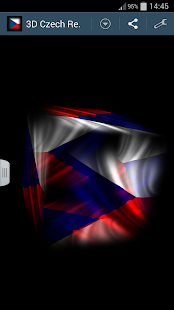 3D Czech Republic Flag LWP - screenshot