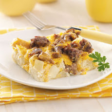 Breakfast Casserole (white bread and egg whites)