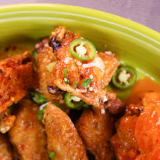 Michael Symon's Crispy Lime and Cilantro Chicken Wings with Sriracha