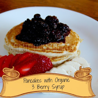 Pancakes and Organic 3-Berry Syrup