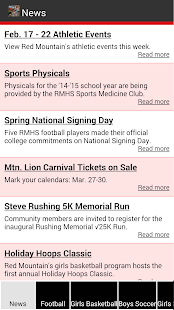 RMHS Athletics - screenshot