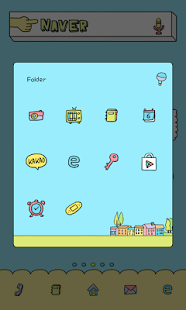 alien dodol launcher theme - screenshot