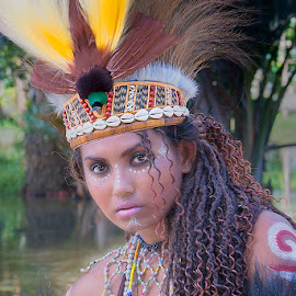 papua dancer by Bramantya Wardana - People Musicians & Entertainers