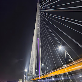 Ada's Bridge by Milos Lukic - City,  Street & Park  Street Scenes ( belgrade, bridge )