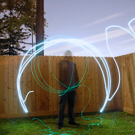 Summoning a Portal  by Corbin Hughes - Abstract Light Painting