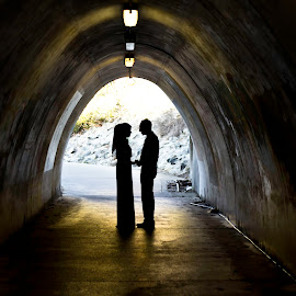 by Ayaz Kermalli - People Couples ( love, cove, crystal, solhouette, tunnel, engagement )