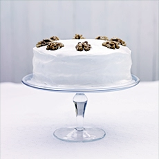 Iced English Walnut Cake