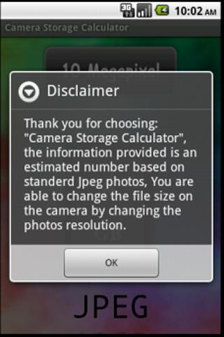 Camera Storage Calculator