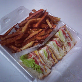 Clubhouse Sandwich & Fries by Steven Lockyer - Food & Drink Plated Food