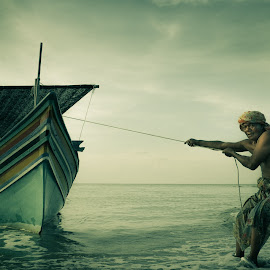 my boat by Zaidy Ksx - People Portraits of Men ( fisherman, boat )