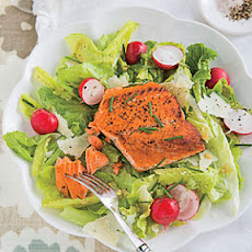 Grilled Salmon Caesar Salad