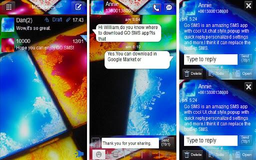 Paint Splatter Go SMS theme